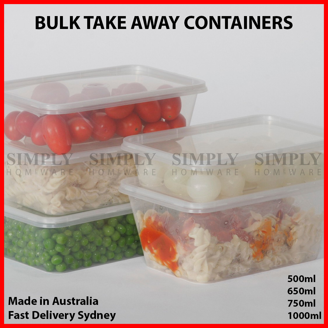 takeaway containers rectangular