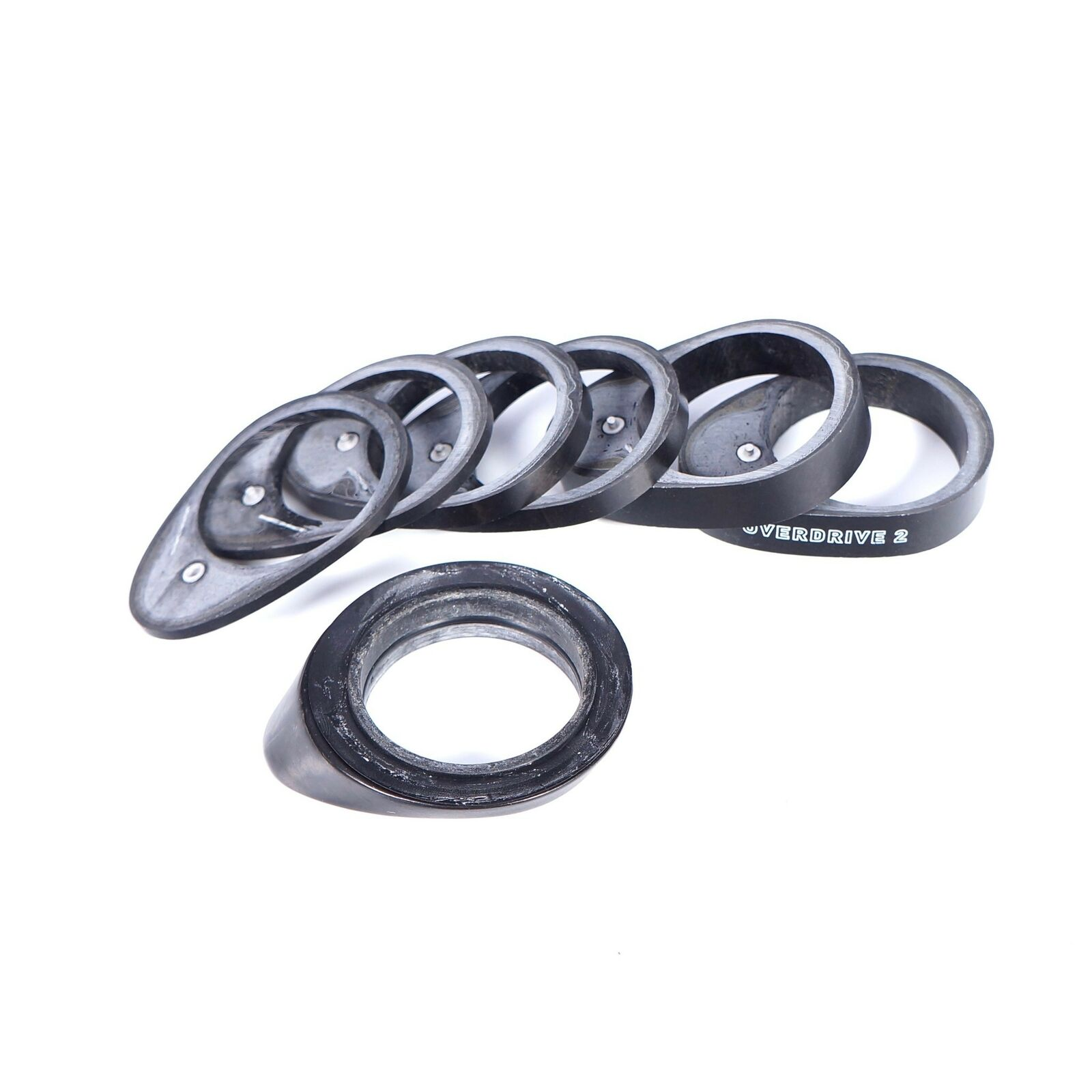 10mmx2 GIANT 1-1//4 inch Overdrive2 OD2 Headset Carbon spacer 2.5mmx1 5mmx2