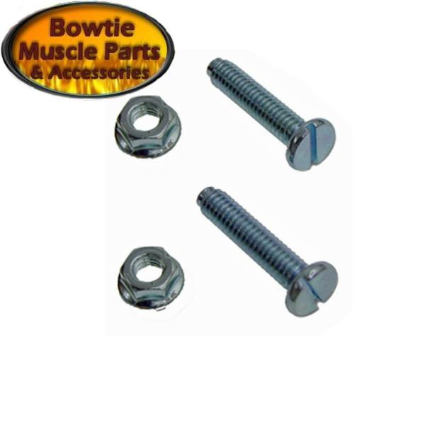 ROUND HOOD STOP BOLTS WITH BUMPERS PAIR 67-69 CAMARO CHEVELLE NOVA MONTE CARLO