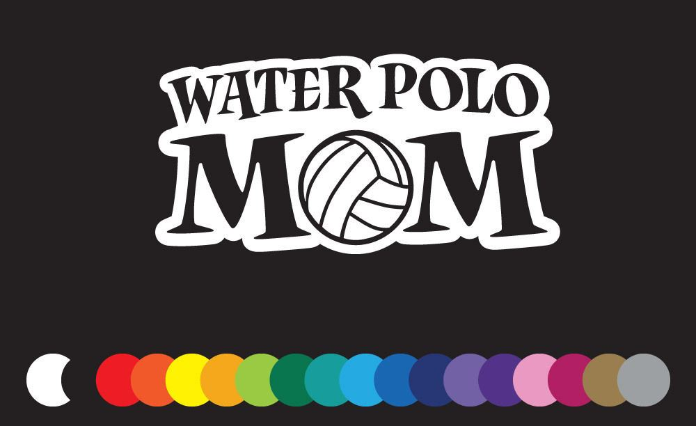 Water Polo Drop Ball Vinyl Decals Stickers TEAM SPORTS H20 PRIDE SCHOOL SPIRIT