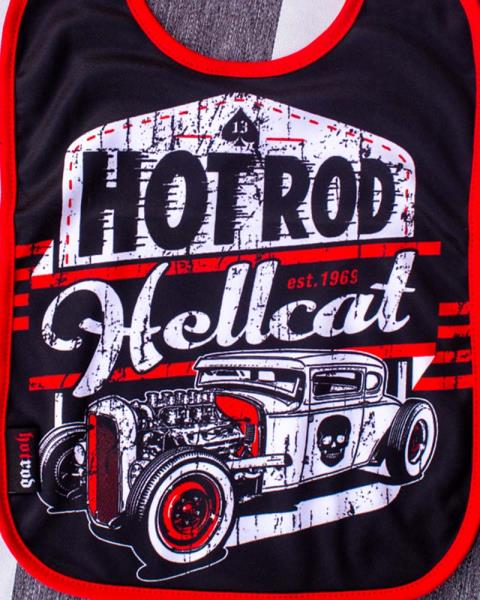 HOT ROD HELLCAT MOTOR OIL GREASER ROCKABILLY BABY RAT ROD RODSTER BABIES BIB