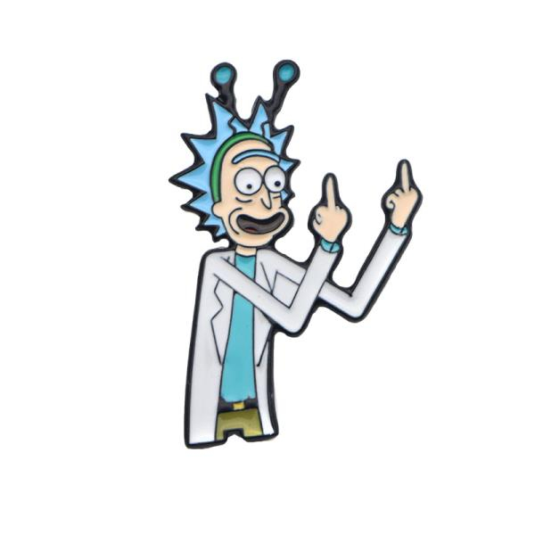 Officially Licensed Inc Rick And Morty Enamel Lapel Pin Original Artwork One Size COUNCIL RICKS