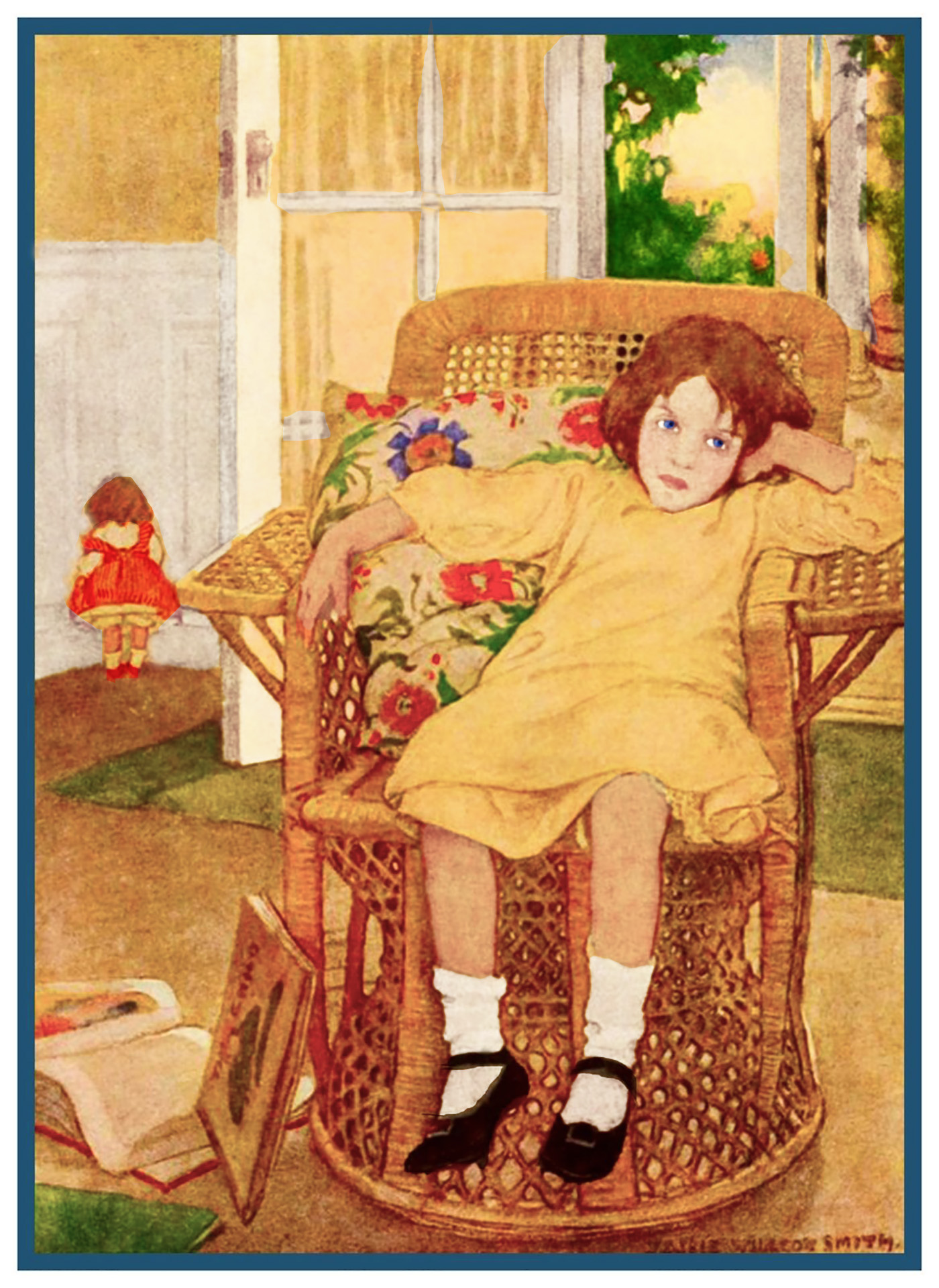Orenco Originals Young Girl Fishing by Jessie Willcox Smith Counted Cross Stitch Pattern