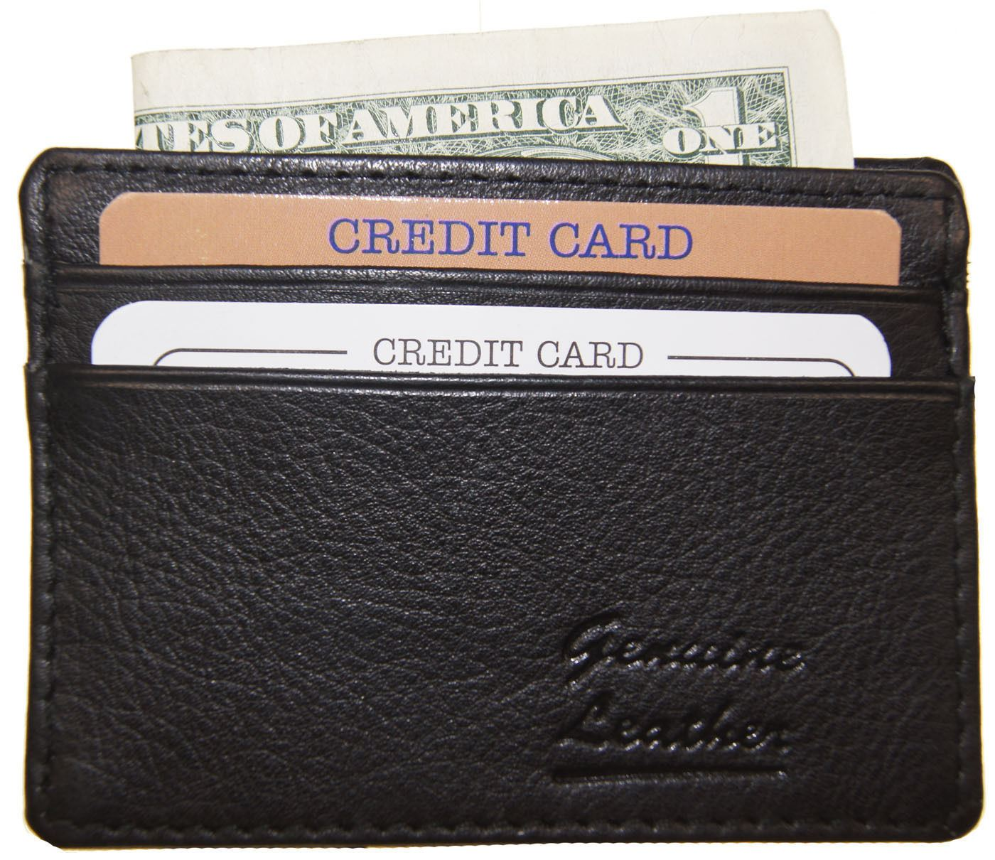 Men/'s Genuine Leather Thin Wallet ID Money Credit Card Slim Holder Money Pocket