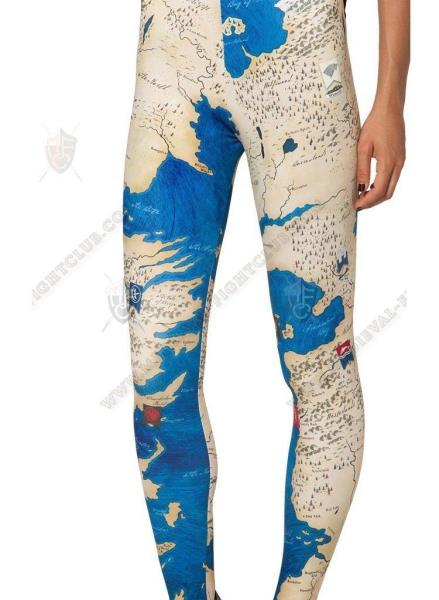 Westeros stretchy tight leggings pants legs Game of Thrones GOT Map one size