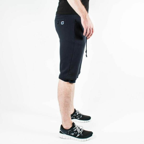 Men/'s UNDEFEATED x CLOT Lined Sweat Shorts Dark Navy Blue size M T106 $90