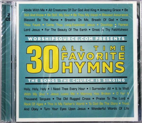 30 All Time Favorite Hymns CD Classic Christian Worship
