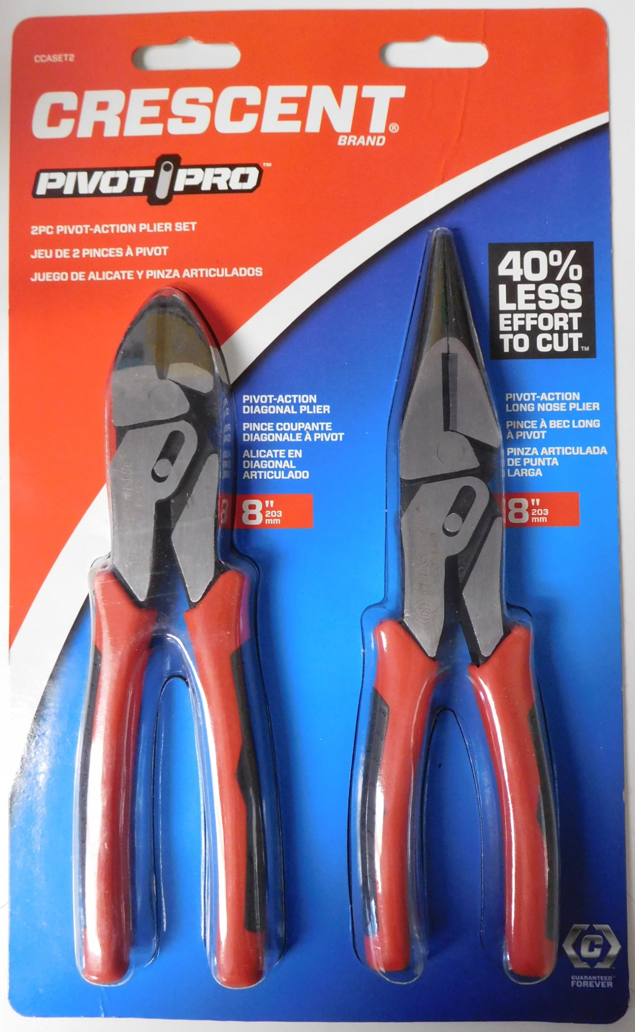 Crescent 8 inch Pro Series Diagonal Compound Action Dual Material Cutting Pliers