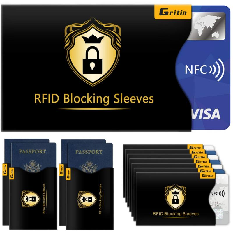 25 RFID Blocking Credit Card Holder for Women and Men Sleeves Holders for Wallet Protection Tyvek Cards Shield Sleeve Identity Theft Protection