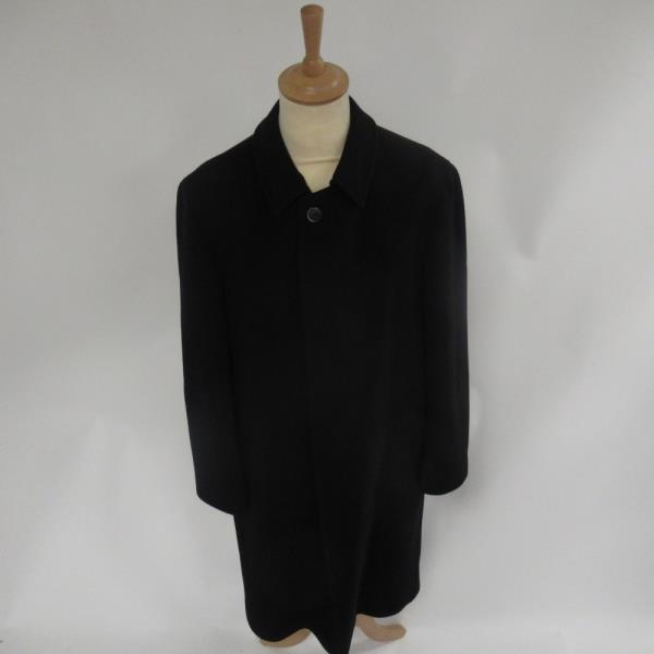 Bugatti Black Overcoat Cashmere Wool Blend German Design Men S Clothing 40r Ebay