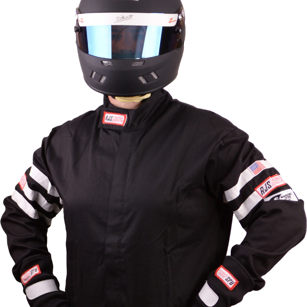 RJS RACING SFI 3-2A//1 NEW 1 PIECE RACING FIRE SUIT ADULT XLARGE BLACK