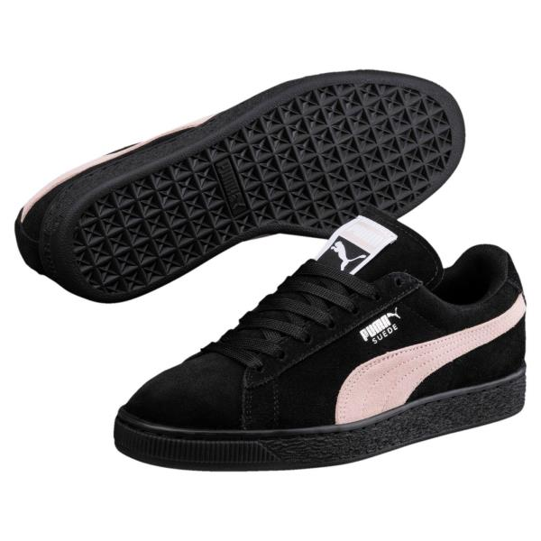 Details about [355462 66] New Women's PUMA Suede Classic Sneakers Black Pink