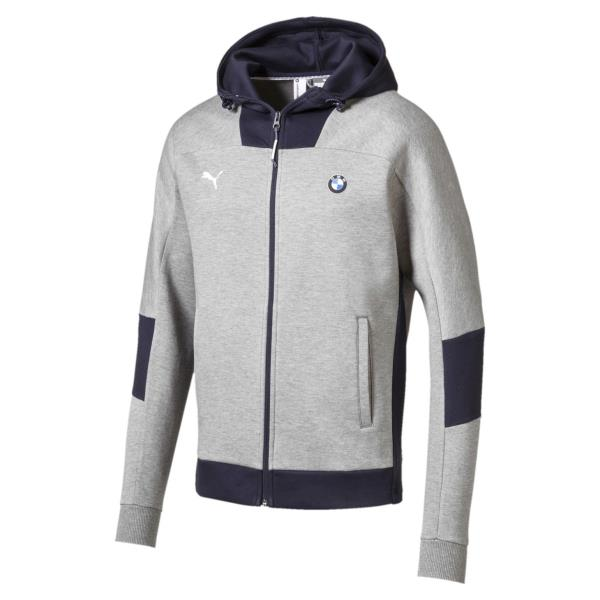 Details about [575249-03] Mens Puma BMW Motorsport Hooded Sweat Jacket -  Gray Heather