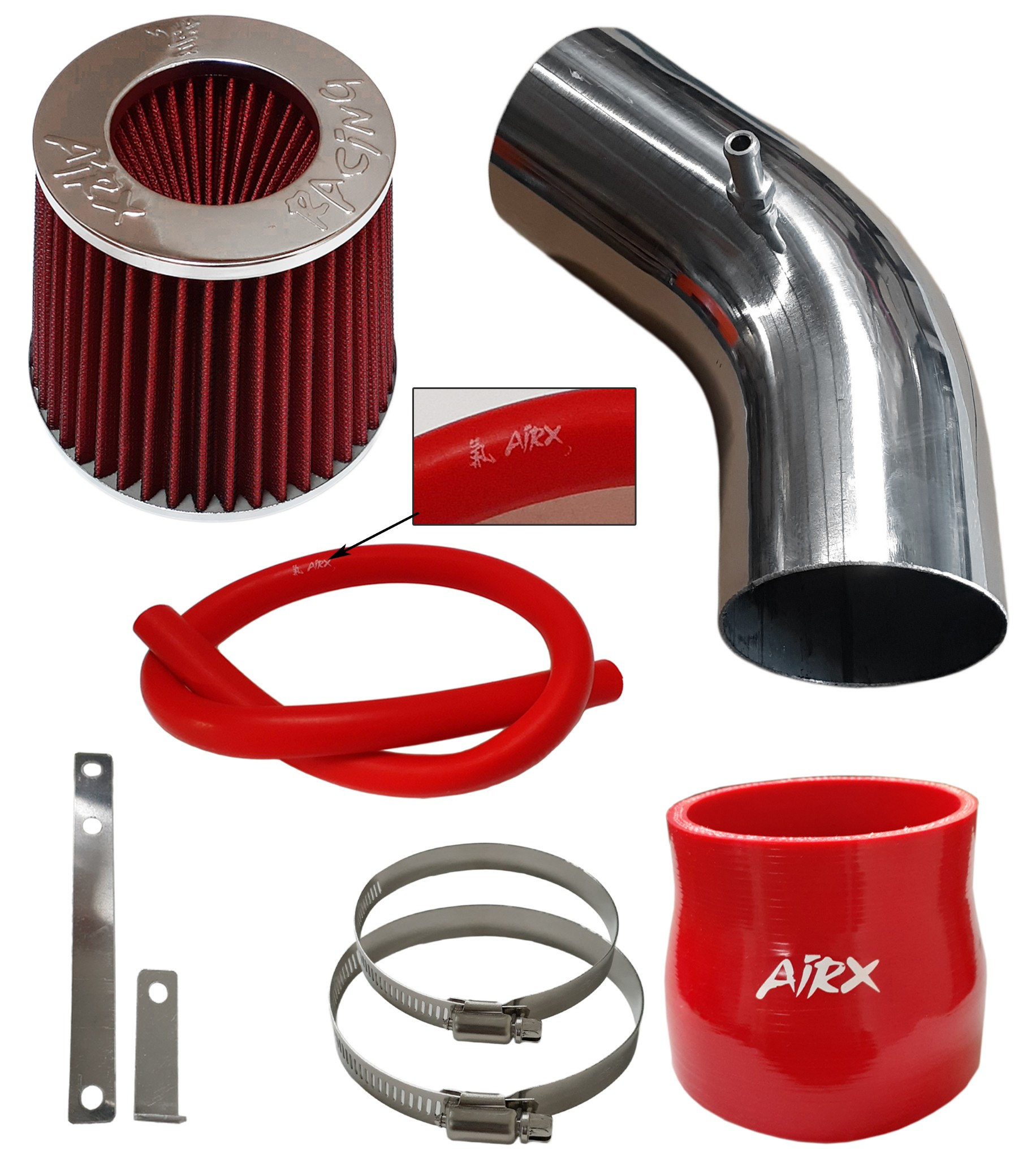 Black Air Intake kit /& Filter For 2002-2006 Acura RSX Type-s Coupe 2.0L 4Cyl