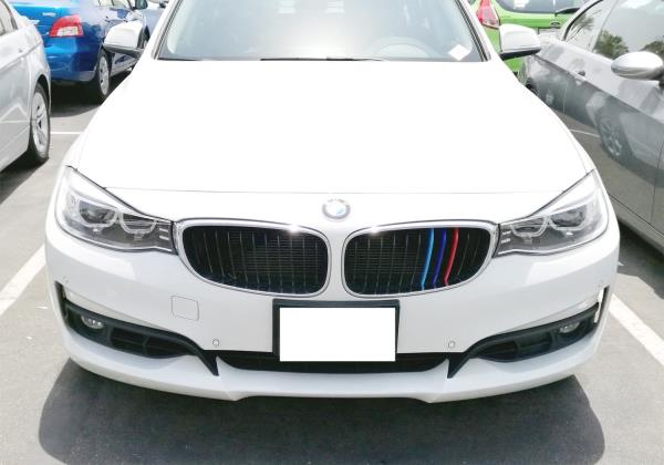 3 Colors M Styling Front Grille Trim Strips Cover Stickers 3St/ück F/ür 13-17 3 Serie GT F34 11 Gitter