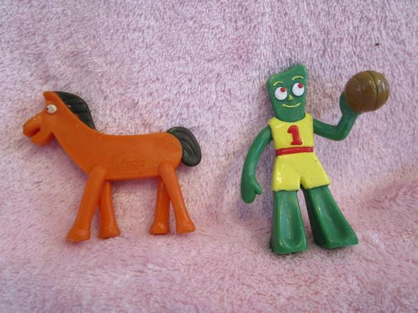 GUMBY AND POKEY MINIATURES GUMBITTY JESCO BRAND NEW 2.75 INCHES TALL