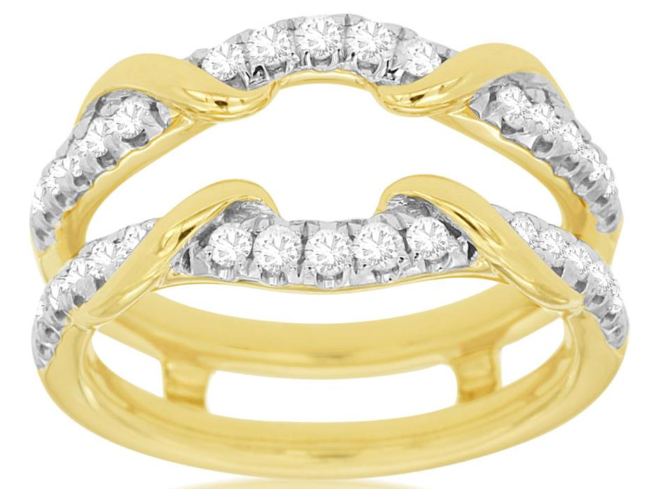 Estate 52ct Diamond 14kt Yellow Gold V Shape Love