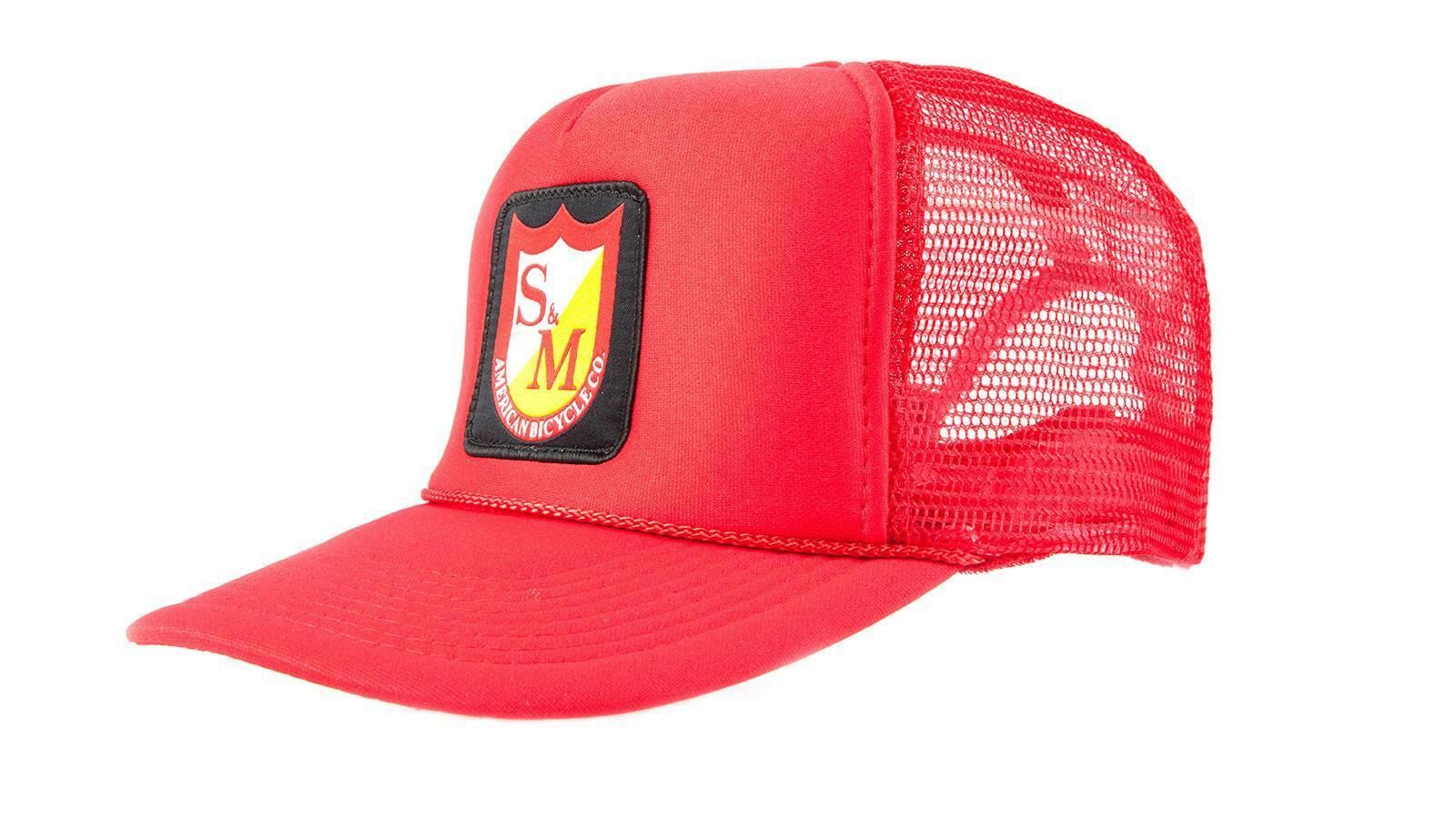 S/&M Bikes Patch Mesh Trucker Cap Black Red or Yellow One Size