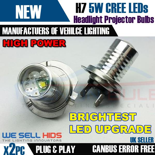 White 1-SMD LED Projector Lens Side Light Bulbs Upgrade /'HID/' Parking Lamps