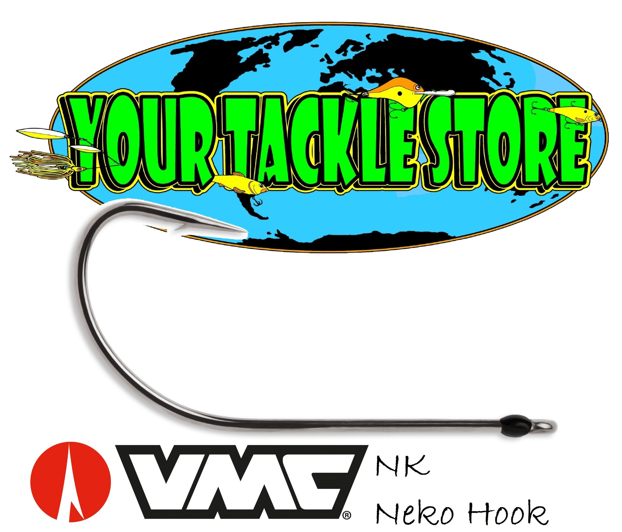 VMC HDFL BNPP Heavy Duty Flippin/' Hook Black Nickel Pick Size /& Qty IKE Approved