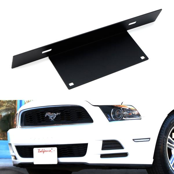 iJDMTOY No Drill Required 3-Inch Bumper Guard Tube Mount License Plate Bracket//Holder