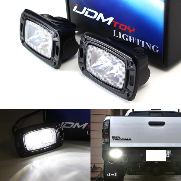 Details About Flush Mount 10w Led Backup Or Driving Pod Lights For Truck Jeep Off Road Spot