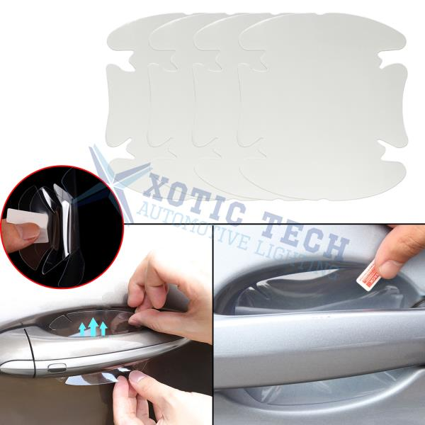 4x Invisible Adhesive Car Auto Door Handle Paint Scratch Protection Film Sheets