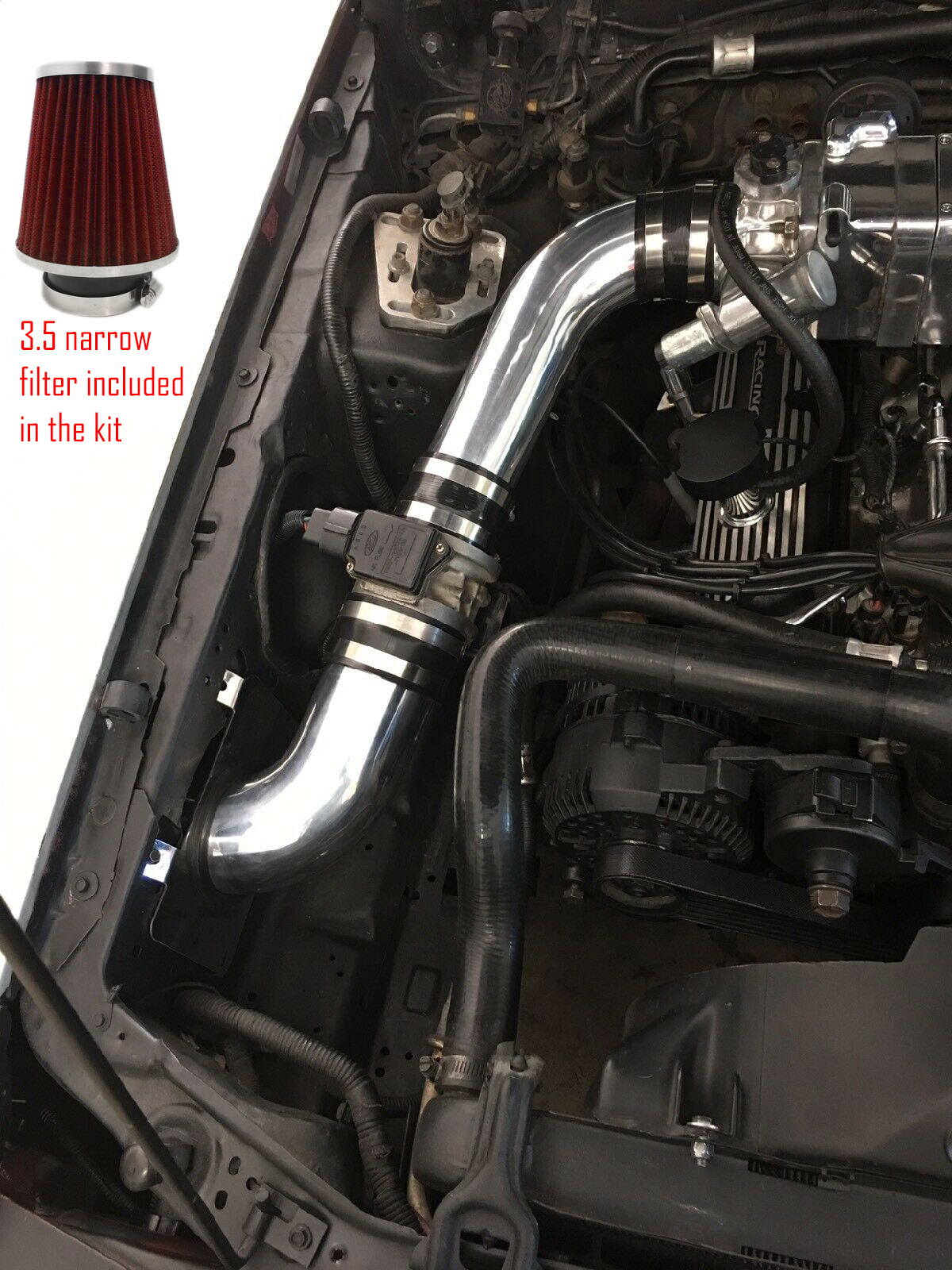 1989 mustang fuel filter red heat shield cold air intake kit for 1989 1993 ford mustang 5 0  cold air intake kit for 1989 1993