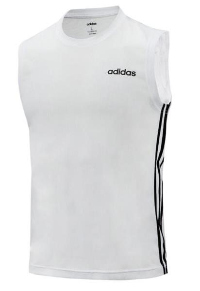 Details zu Adidas Men D2M 3S Sleeveless Shirts Jersey White Running Tank Top Shirt DU1249