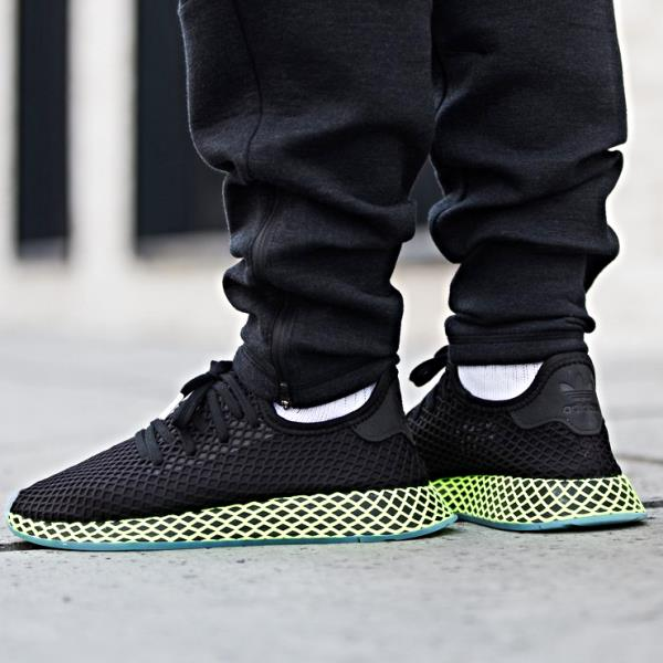 Details about Adidas Deerupt Runner Sneakers Core Black Size 8 9 10 11 12  Mens NMD Boost New