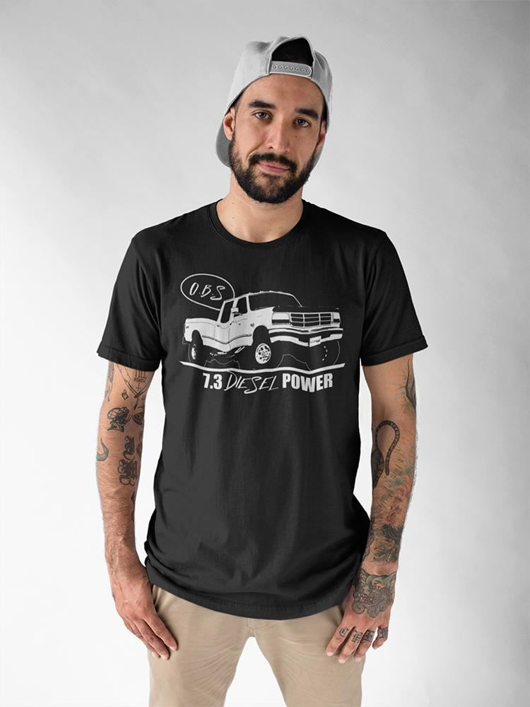 Ford OBS T-Shirt with Crew Cab F250 F350 Truck