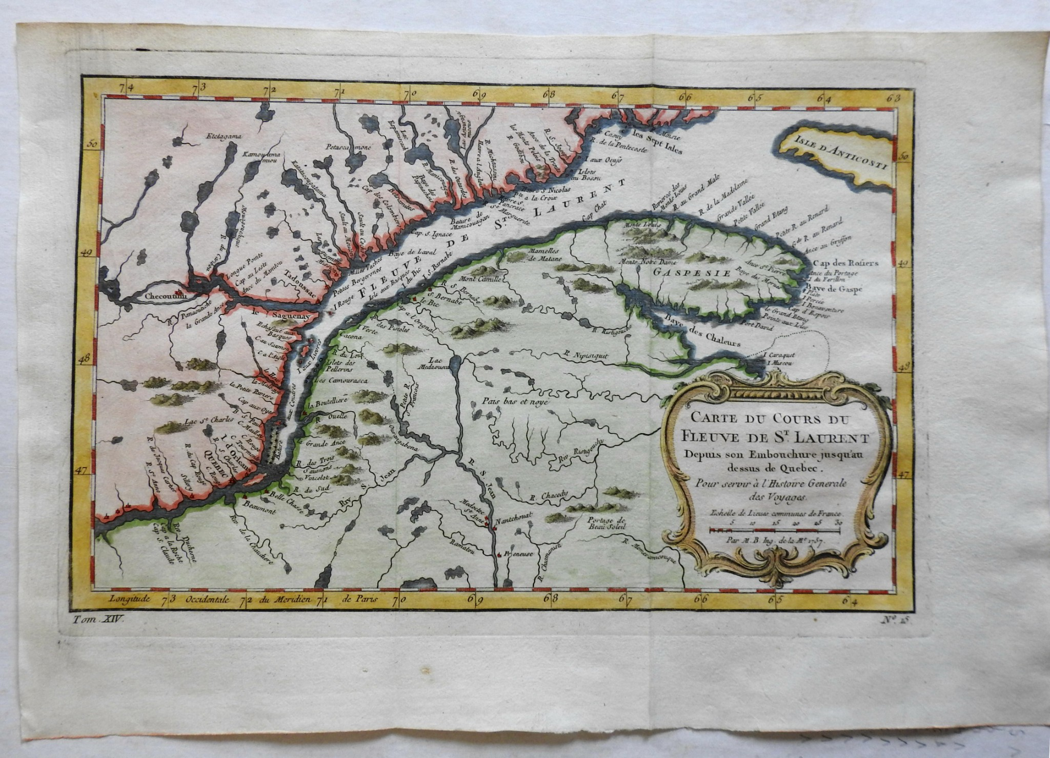 Map Of Maine And New Brunswick Canada St. Lawrence Seaway Canada Quebec New Brunswick Maine 1757 Bellin