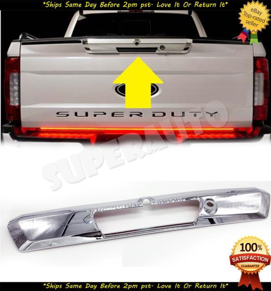 Fit 2008-2016 Ford F250//F350//F450 Chrome TailGate Covers W//Camera Hole