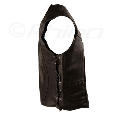 Live To Ride Men/'s Black Eagle Embossed Motorcycle Leather Vest S 10XL