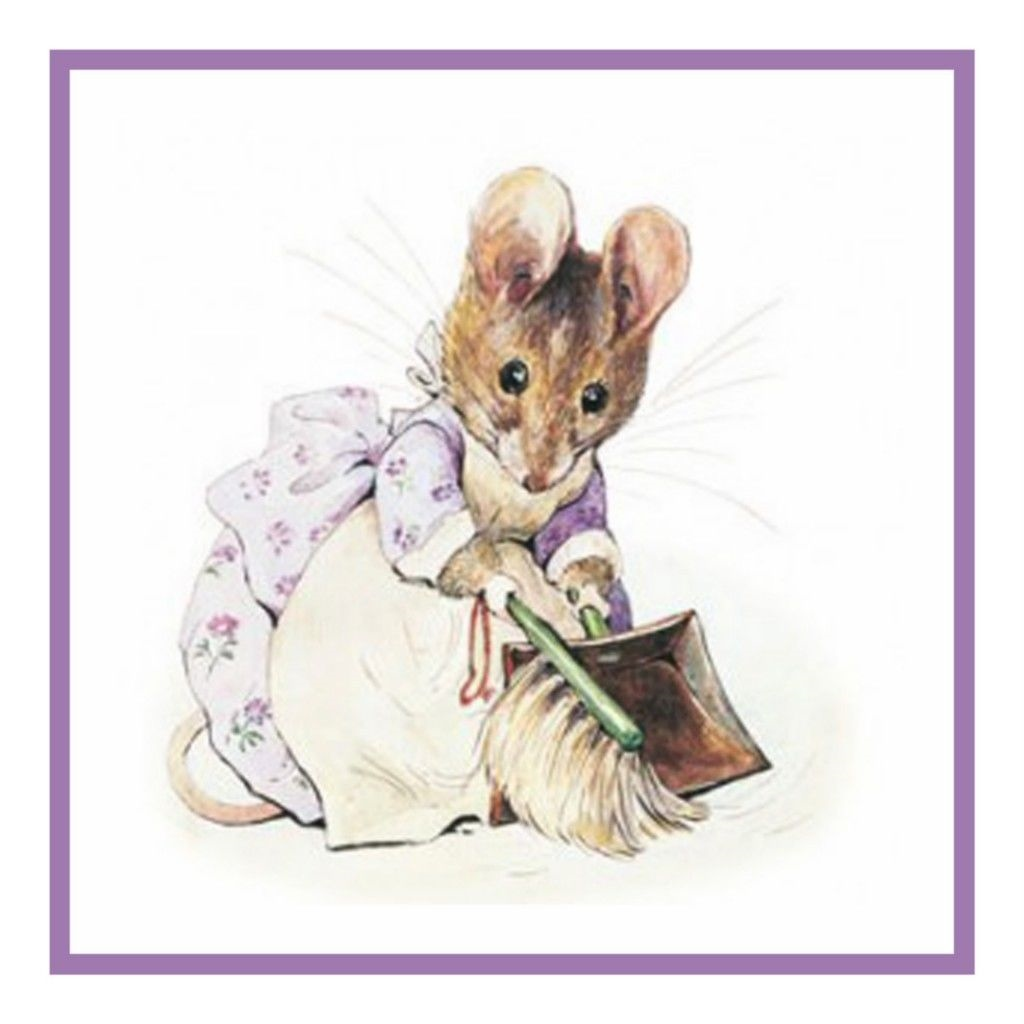 Mouse Helps Tailor of Gloucester Inspired by Beatrix Potter Counted Cross Stitch Pattern