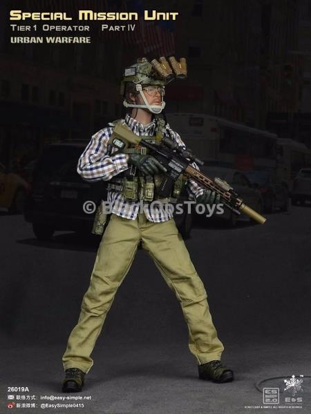1//6 Scale Toy Urban Warfare SMU Tier 1 Operator Male Headsculpt
