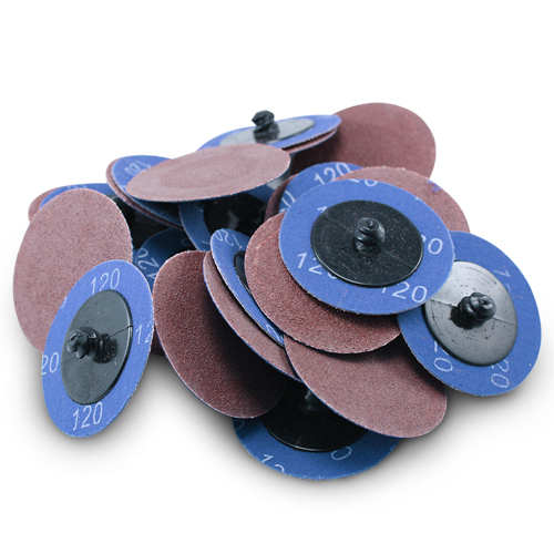 "Type R Roloc 200 Pack 2/"" Zirconia 40 Grit Quick Change Sanding Disc Black Hawk"