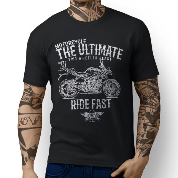 JL Ultimate Triumph Street Triple 2016 Motorbike Art T-shirt