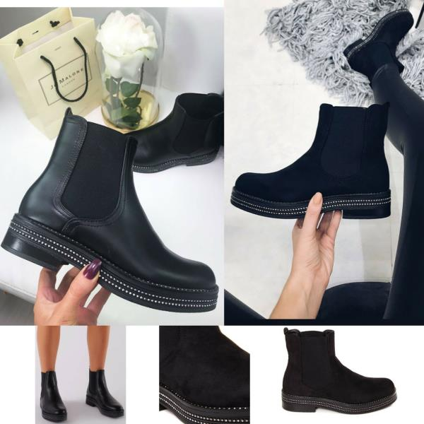 Womens Ladies Chelsea Ankle Boots Flat