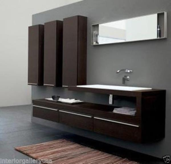 Bathroom Vanity Modern Bathroom Vanity Set Single Sink Valentino Ii 66 640265210044 Ebay