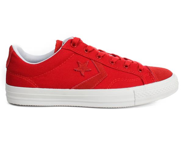 Details about NEW CONVERSE Star Player Ox RedWhite Canvas Trainers 142169C (Size 11.5)