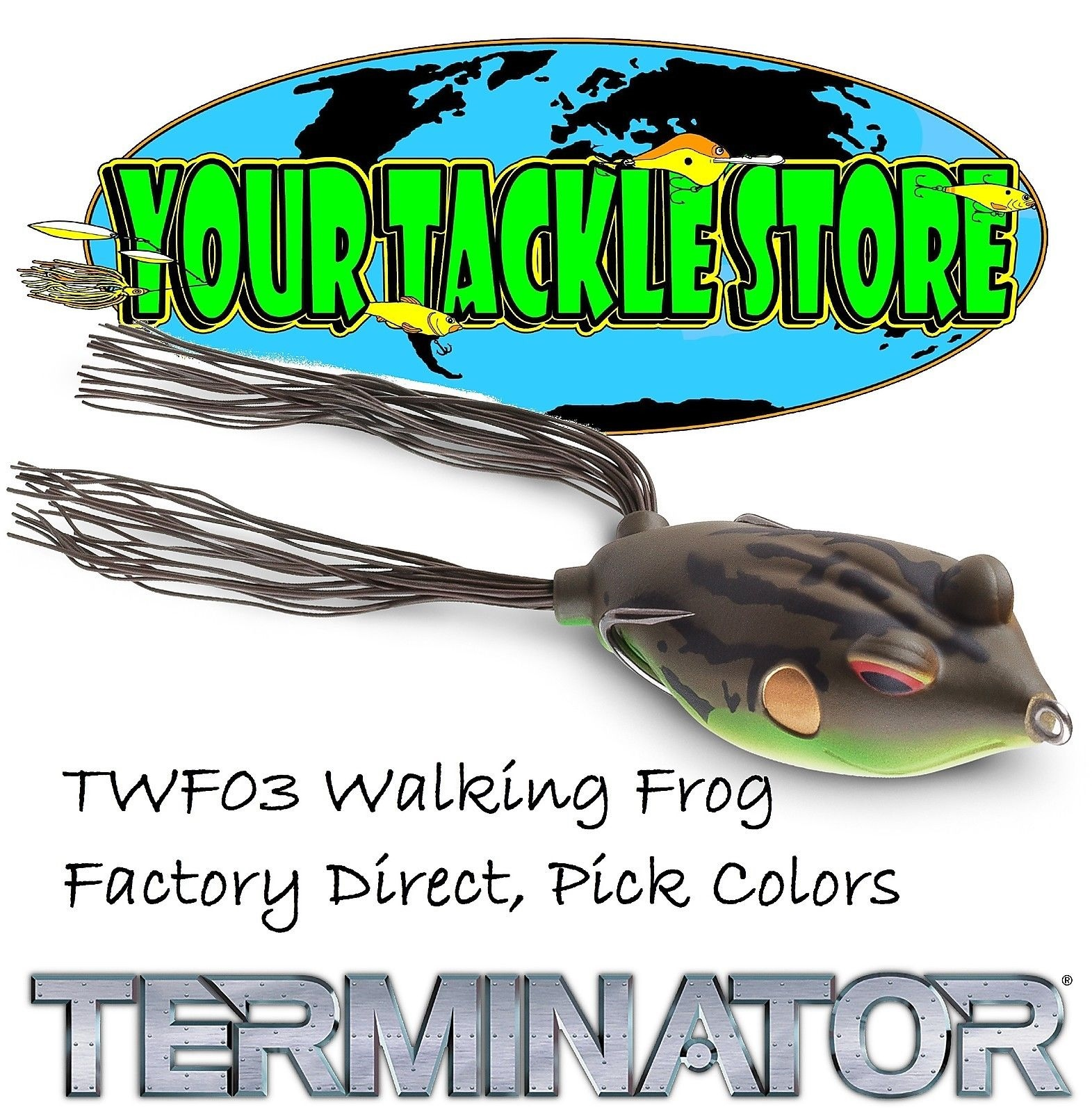 "Terminator Walking Frog 3 /""Yellow Leopard/"""