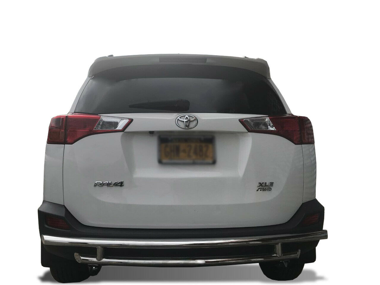 APU 2006-2018 Toyota RAV4 Stainless Rear Bumper Guard Protector Double Layers