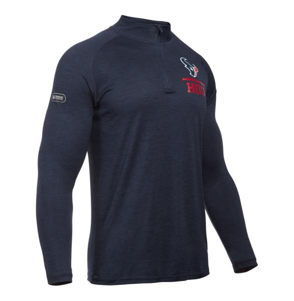 Texans 1307639-455 New Men/'s Under Armour UA NFL Combine Lockup 1//4 Zip