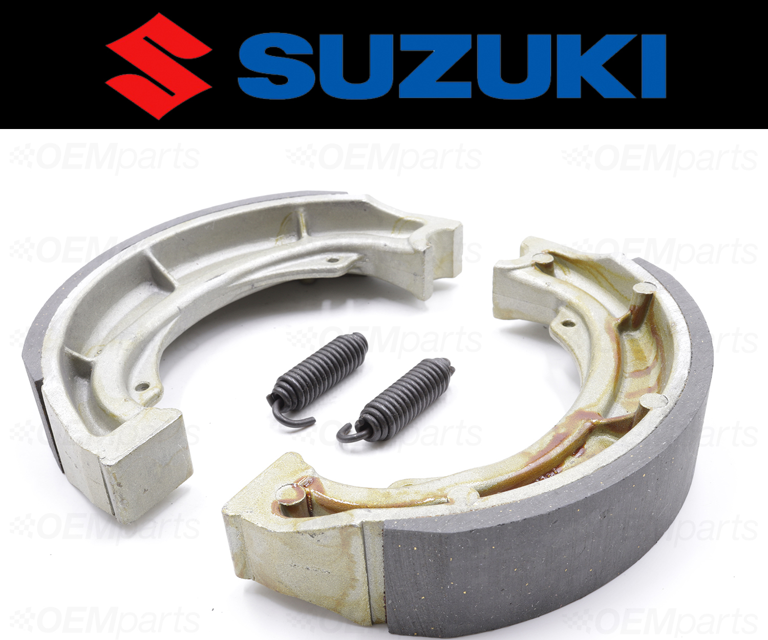 2 Suzuki REAR Brake Shoes and Springs #64400-11870 Set of See Fitment Chart