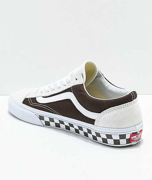 Details zu NEW MEN'S 12 VANS STYLE 36 CHECKERBOARD BROWN WHITE SKATE SHOES SKATEBOARDING