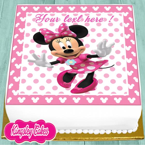 Edible Minnie Mouse Cake Topper