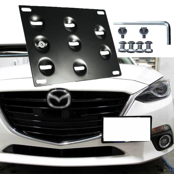 EOS Plate For 16-Up Mazda MX-5 Miata ND Front Tow Hook License Mount Bracket