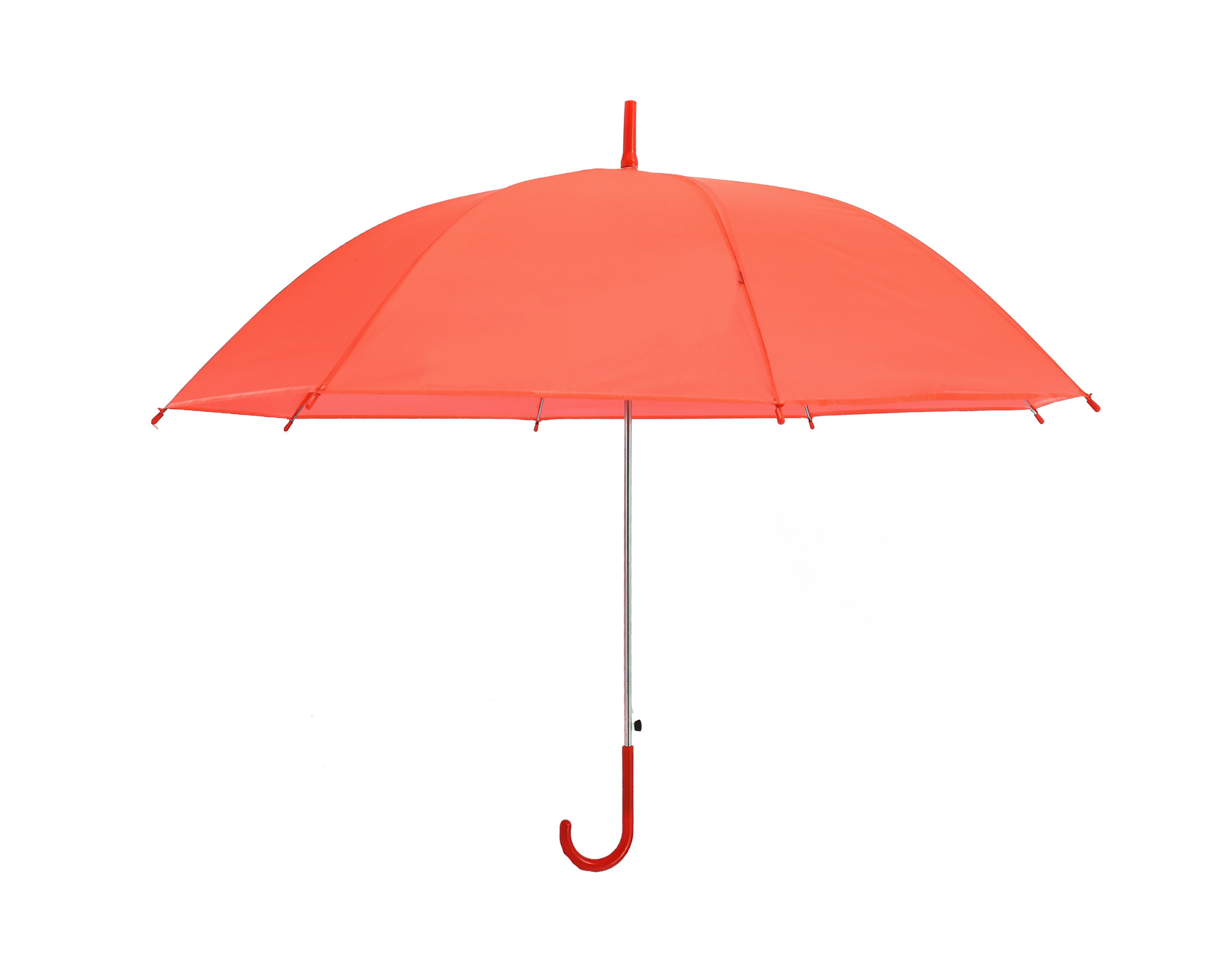Solid Purple Unisex Stick Umbrella Brolly With Quick Release Button