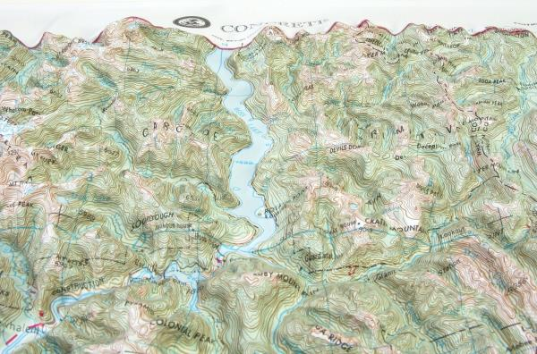 Seattle USGS Regional 3D Raised Relief Map in the state of WA